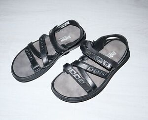 KYBUN KYBOOT Womens Genf 17 Black W Comfortable Leather Sandals Shoes Size 39