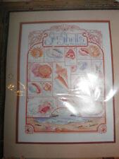 "Bucilla Counted Cross Stitch Kit Sealed - Sea Shells 11"" x 14"" - New"
