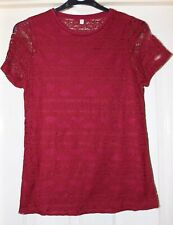 H&M Burgundy Red Top, Size 12 - Lovely!