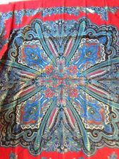 """45"""" SQ  Multi Color Paisley Scarf Wrap MADE IN ITALY  lovely compliments coming"""