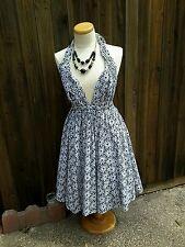 JEAN PAUL GAULTIER  for Target Pinup Dress Flower Eyelet Halter Dress Size 11