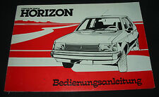 Betriebsanleitung Chrysler Simca Horizon Stand Mai 1978 Handbuch Bordbuch