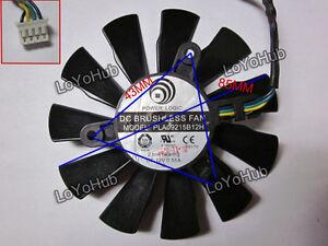 power logic PLA09215B12H for MSI Graphics card Fan DC 12V 0.55 A 4-pin 2 Ball