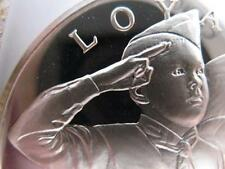 7/8 -OZ.STERLING SILVER COIN BOY SCOUTS OF AMERICA MINT CONDITION- LOYAL + GOLD