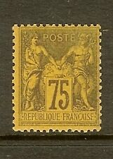 """FRANCE STAMP TIMBRE N° 99 """" SAGE 75c VIOLET SUR ORANGE """" NEUF x TB"""