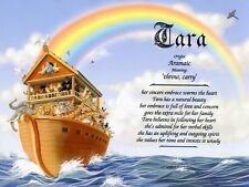 """""""Noah's Ark"""" Name Meaning Prints Personalized (Children's Room Religious)"""