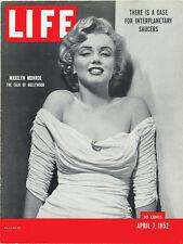 "1952 Life Magazine Marilyn Monroe Refrigerator Magnet New! 8"" x 10 1/2"""