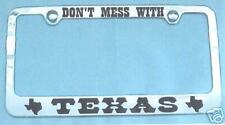 TEXAS DON'T MESS WITH License Plate Frame Cowboy (girl)