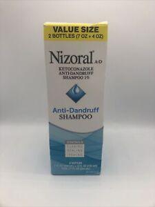2 pack Nizoral A-D Anti-Dandruff Shampoo Value Size 7oz bottle & 4oz bottle