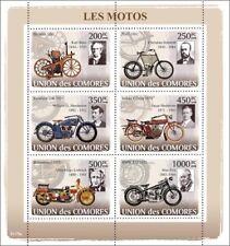 BMW/NSU/Excelsior/Daimler/Indian Motorbikes Motorcycle Stamp Sheet/2008 Comoros