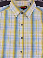 WOLVERINE Men's L LARGE Short Sleeve Plaid Casual Cotton Shirt