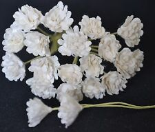 100 WHITE GYPSOPHILA miniature Mulberry Paper Flowers wedding