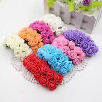 144pcs 2cm Mini Foam Rose Artificial Flower Bouquet Multicolor Rose Wedding Flow