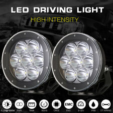 7 Inch Round LED Driving Lights Offroad Spot 4x4 Spotlights Black 12V 24V