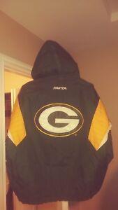 Vintage Green Bay Packers Throwback Pullover Starter Jacket Large New! NFL