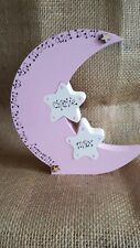 Love you to the moon and back, freestanding moon mum nanny gift personalised new