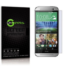 CitiGeeks® HTC One M8 Glass Screen Protector 9H Tempered [Lifetime Warranty]