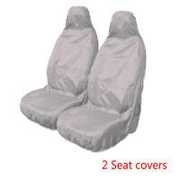 Universal Car Van Waterproof Nylon Grey Front Heavy Duty Seat Covers Protectors