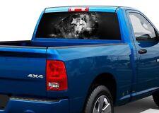 Wolf Black and White Stars Art Rear Window Decal Sticker Pick-up Truck SUV Car
