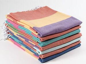 CARNIVAL Turkish Towel Peshtemal Sarong Bath SPA Beach Hammam Gym 100% cotton