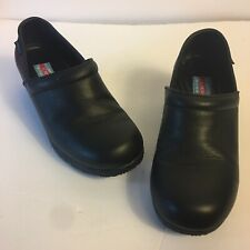 Cherokee Workwear Women's Harmony Black Slip-on Clogs Shoes 8W