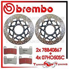Dischi Freno Anteriore BREMBO + Pastiglie BREMBO SC HONDA CB 1000 R 2009 2010 10