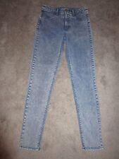 "Womens American Eagle Jeans 4 Sky High Jegging 29"" Inseam Light Acid Wash EUC"