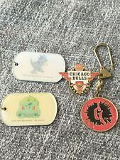 LOT Vintage 90's Keychains, Pins, Dogtags | Goosebumps, Pokemon, Chicago Bulls