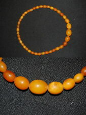 Amber Necklace REAL honig-bernstein, Length 44cm, 21,5 Very Good Condition