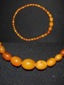 Bernstein Halskette echter Honig-Bernstein, Länge 44cm, 21,5 sehr guter Zustand