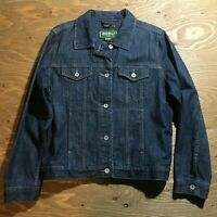 Women's Eddie Bauer Denim Jean Jacket Size Large *Stretch Denim*