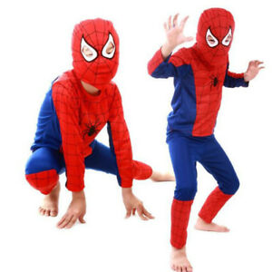 Boys Kids Costume Fancy Dress Spiderman Roleplay Cosplay Outfits Costumes
