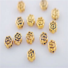 Bulk Lots 100ps Golden Metal Beads Loose Spacer Craft Jewelry Finding 5mm Charms