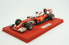 1/18 BBR FERRARI SF16-H S. VETTEL DELUXE RED LEATHER BASE LIMITED 5 PIECES MR