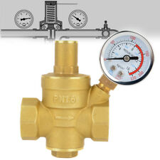 "DN20 3/4"" Adjustable Brass Water Pressure Reducing Regulator Valves W/ Gauge"