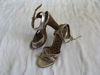 GRACELAND Damen Schuhe Pumps Riemchen Gr.38 US 7 women high heel leopard motif
