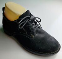 "Bass ""Sassy"" Oxford Black Suede Lace Up Women's Loafers Size 6"
