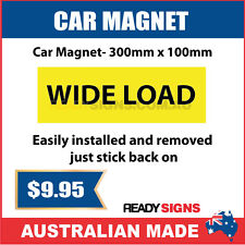 WIDE LOAD - Car Magnet 300mm x 100mm - Australian Made