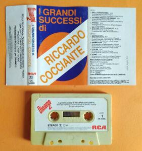 MC Musicassetta I Grandi Successi Di RICCARDO COCCIANTE Italy Pop 1986 no lp cd