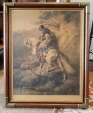 1881 Christian Adolf SCHREYER KABYLE Photogravure-Professionally Framed-RARE!
