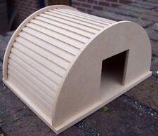 Escala 1:12 acabado natural paquete plano de madera Animal Shelter jardín de Casa de Muñecas