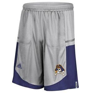 East Carolina Pirates NCAA Adidas Men's Grey Climalite Team Shorts