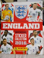 ENGLAND OFFICIAL STICKER COLLECTION 2016 - PANINI - COMPLETE