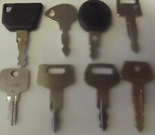 8 x PLANT & TRACTOR KEYS  CASE - JCB - CAT CASE - JCB - CAT - HITACHI - TAKEUCHI