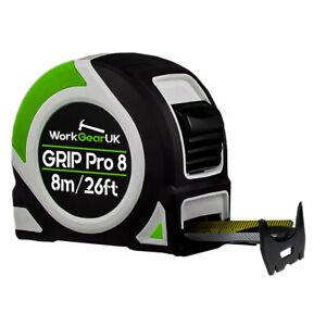 WorkGearUK Grip Pro 8 Tape Measure 8M/26ft WG-TM04 Class 2