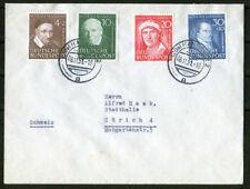 Bund 143 - 146 Brief MiF auf Satzbrief sauber gestempelt Hannover BRD 1951 used
