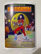 1997 Foo Fighters w Super Grass Concert Poster Gga - 7/14 Tulsa Ok - Rolled