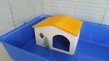 Chinchilla Maison en bois grande taille rongeurs Lit Cage Hamster Furet Cobaye
