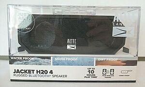 ALTEC LANSING JACKET H20 4 Rugged Bluetooth Speaker Black IMW449N-BLKC-WM