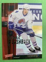 2002-04 Upper Deck Victory Freshman Flashback #FF12 Peter Forsberg Quebec Insert